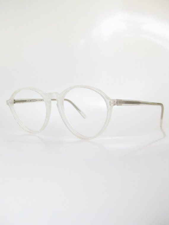 c06c26e0b Vintage Icy White Round Eyeglasses Jean Lafont France Paris   eye ...