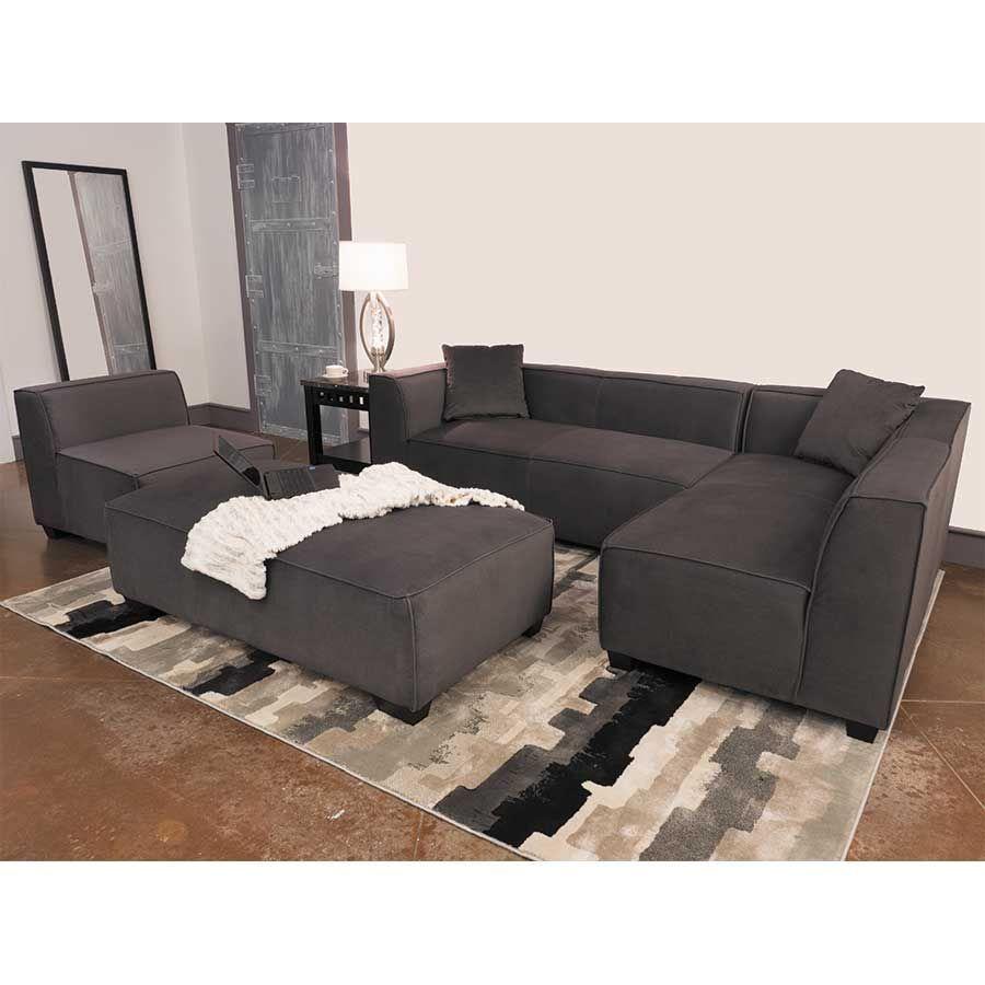 Zara 2pc dark gray sofa sectional 1d 9916 2pc cambridge home 9916 la american furniture warehouse