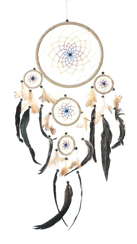 Capteur De Rêve Fabrication pour attrape-rêves (Ø= 22 cm, l = 70 cm), plumes véritables