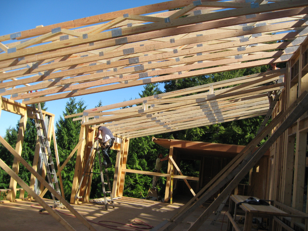 Sloping Flat Truss Google Search Roof Trusses Flat Roof Roof