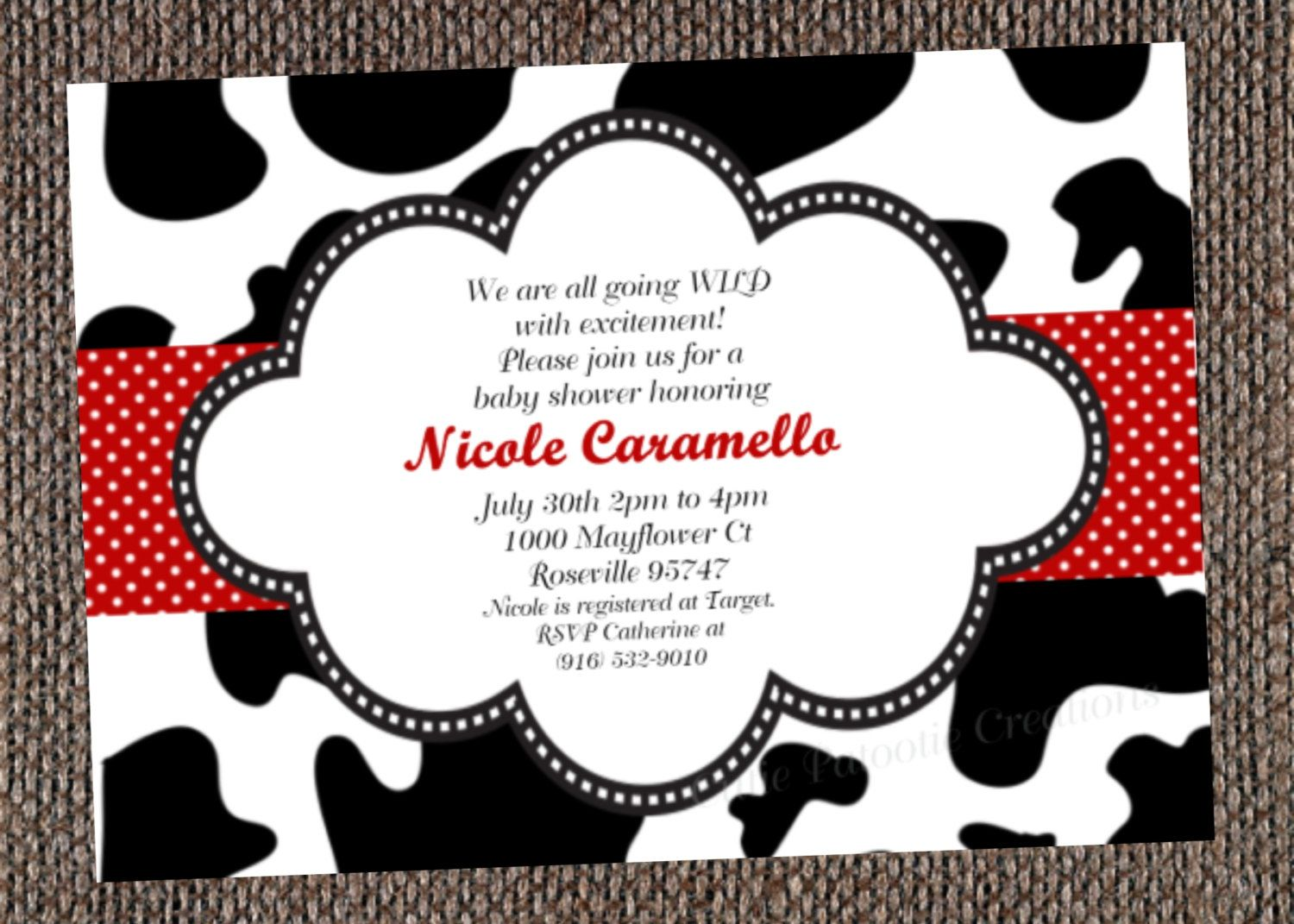 Pin by Katie Crain on Melissa Baby Shower | Pinterest | Cow print ...
