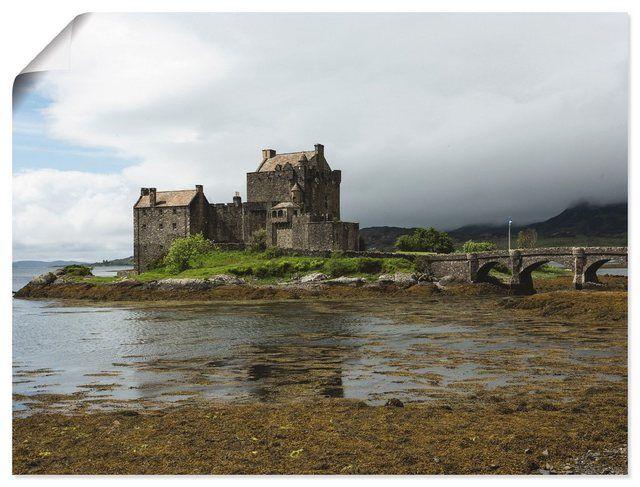 Kunstdruck Poster »Andrea Potratz: Eilean Donan Castle am Loch Duich« #naturallandmarks