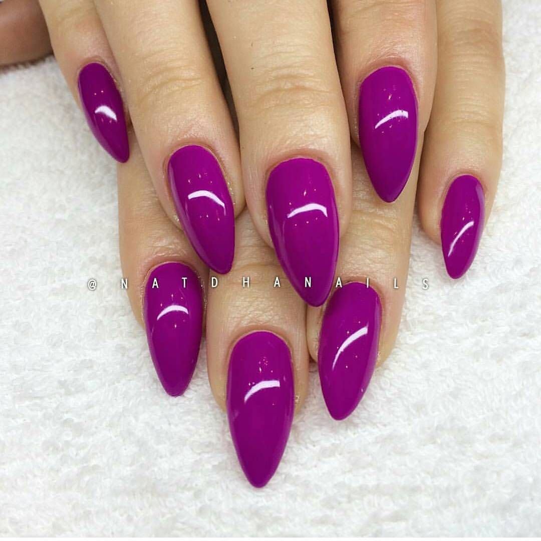 Fuschia Nails With Images Purple Toe Nails Neon Purple Nails