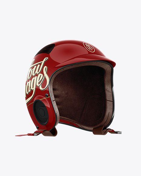 Download Vintage Motorcycle Helmet Right Halfside View Jersey ...
