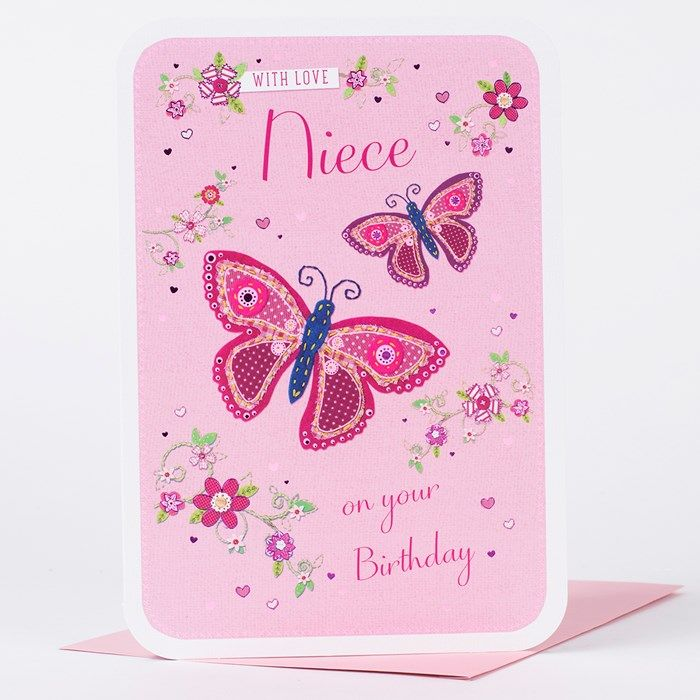 Wish your niece a lovely birthday with this pink card boasting explore card factory pink cards and more bookmarktalkfo Choice Image
