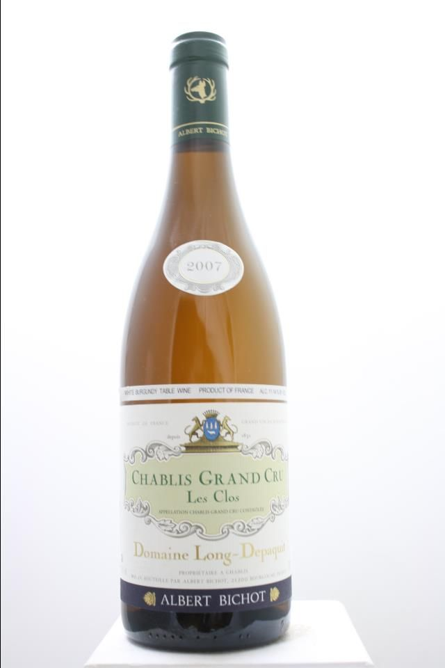 Albert Bichot (Domaine Long-Depaquit) Chablis Les Clos 2007. France, Burgundy, Chablis, Grand Cru. 6 Bottles á 0,75l. Price realized (9/2016): 216 USD (36 USD/Bottle).