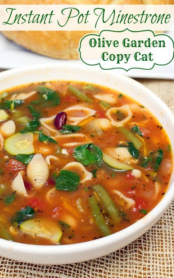 instant pot olive garden minestrone recipe instant pot olive gardens and instant pot pressure cooker - Olive Garden Minestrone