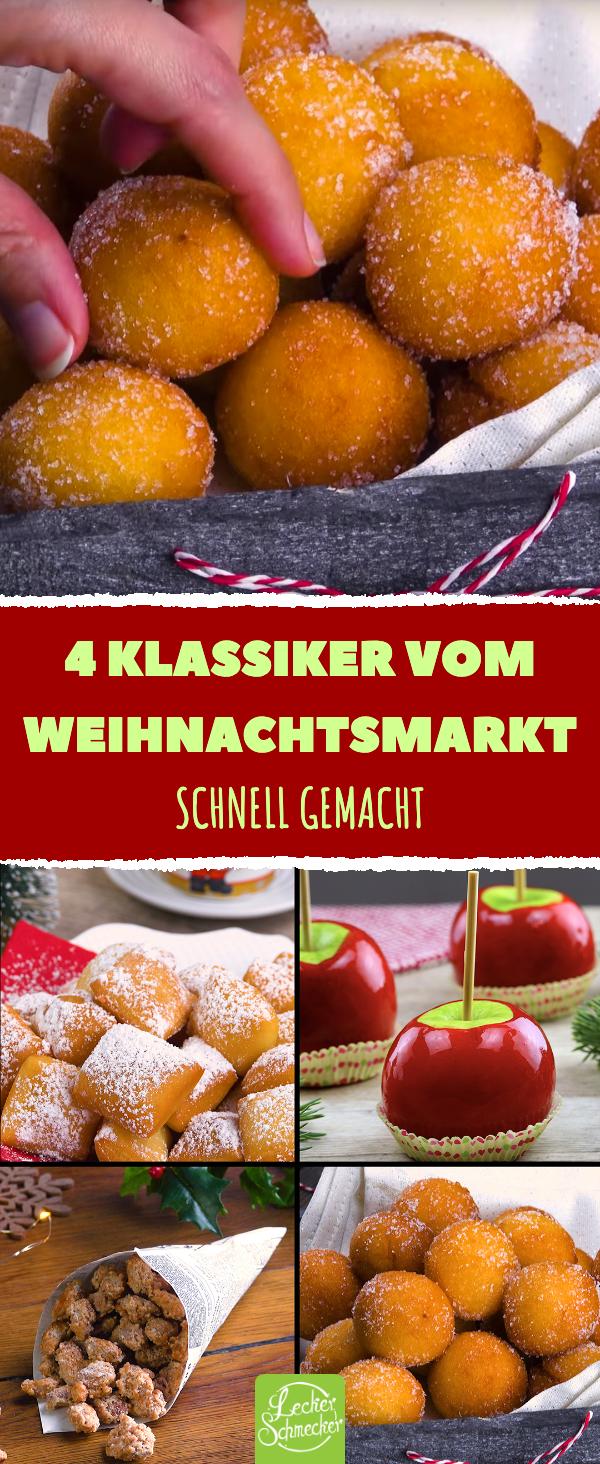4 Klassiker vom Weihnachtsmarkt: Süßigkeiten-Rezepte zum Nachmachen. #nikolausbacken