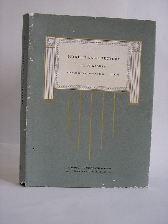 Vintage Book Modern Architecture Otto Wagner By Harry Francis
