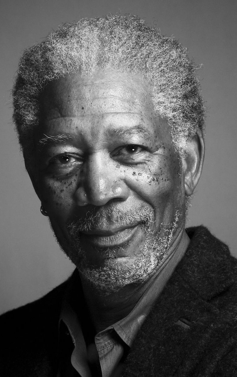 Morgan freeman actor black portrait black and white handsome sexy cool hot personality inspirational