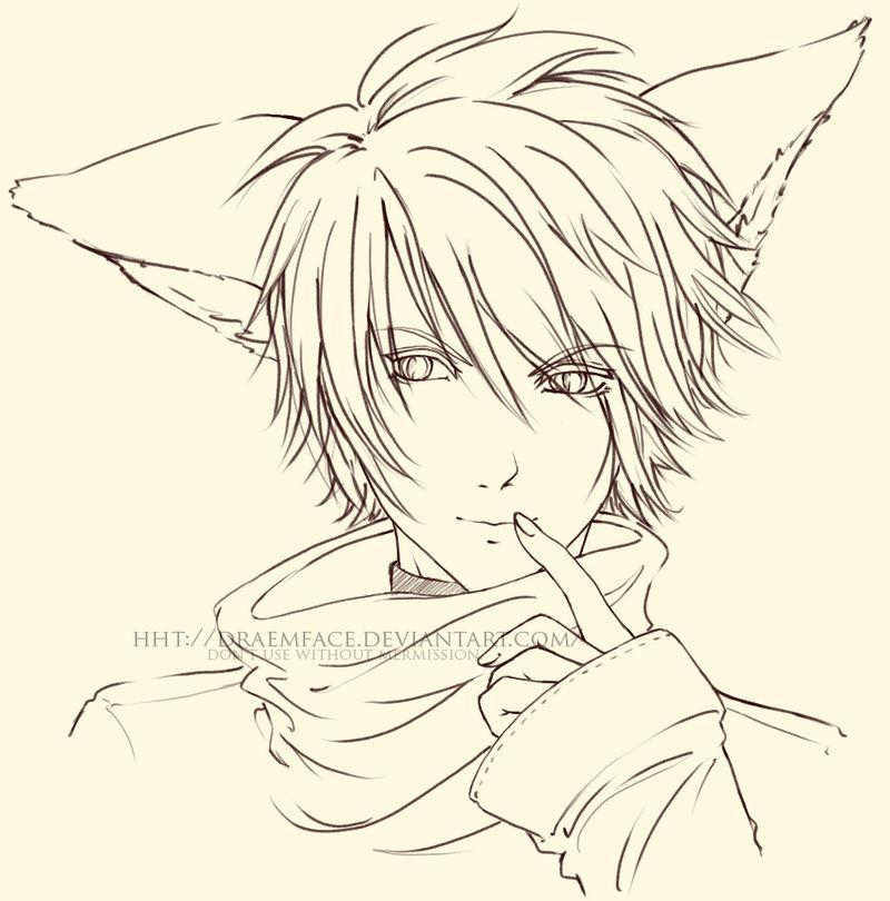 Fox Boy Lineart By Draemface On Deviantart Fox Boy Line Art Art