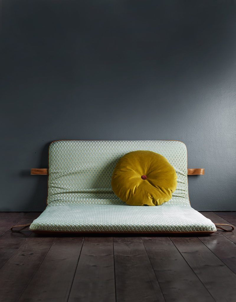 The M headboard - Cognac aniline leather (With images ... on Cognac Leather Headboard  id=43707