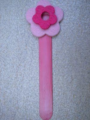 bookmark with felt flower