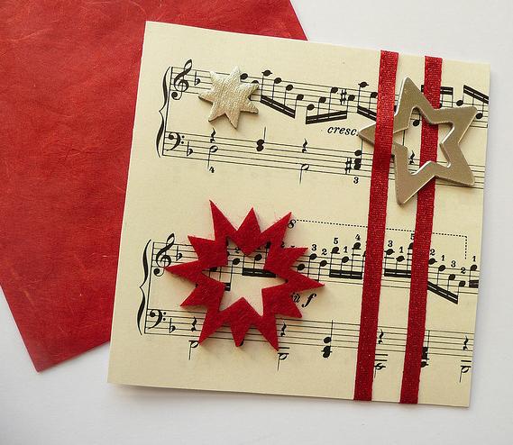 Postales de navidad hechas a mano tarjetas artesanales - Tarjetas de navidad elegantes ...