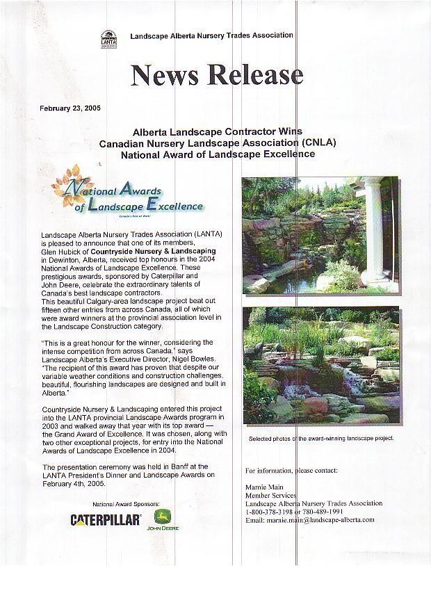 2005 Countryside Garden Centre Won The Canadian Nursery 400 x 300