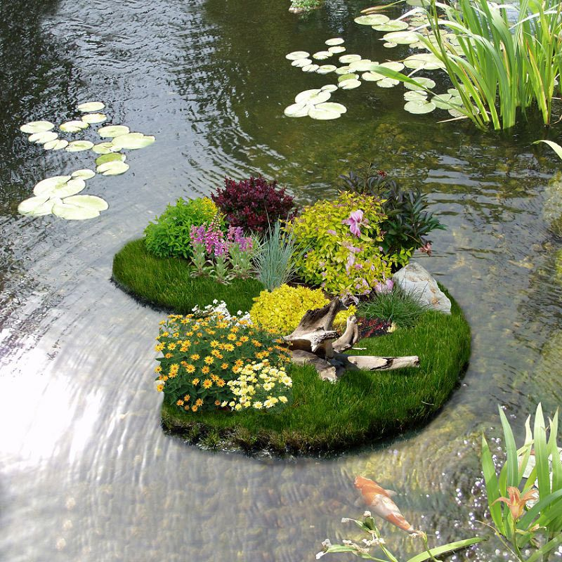 Floating Flower Gardens Floating garden, Flower garden