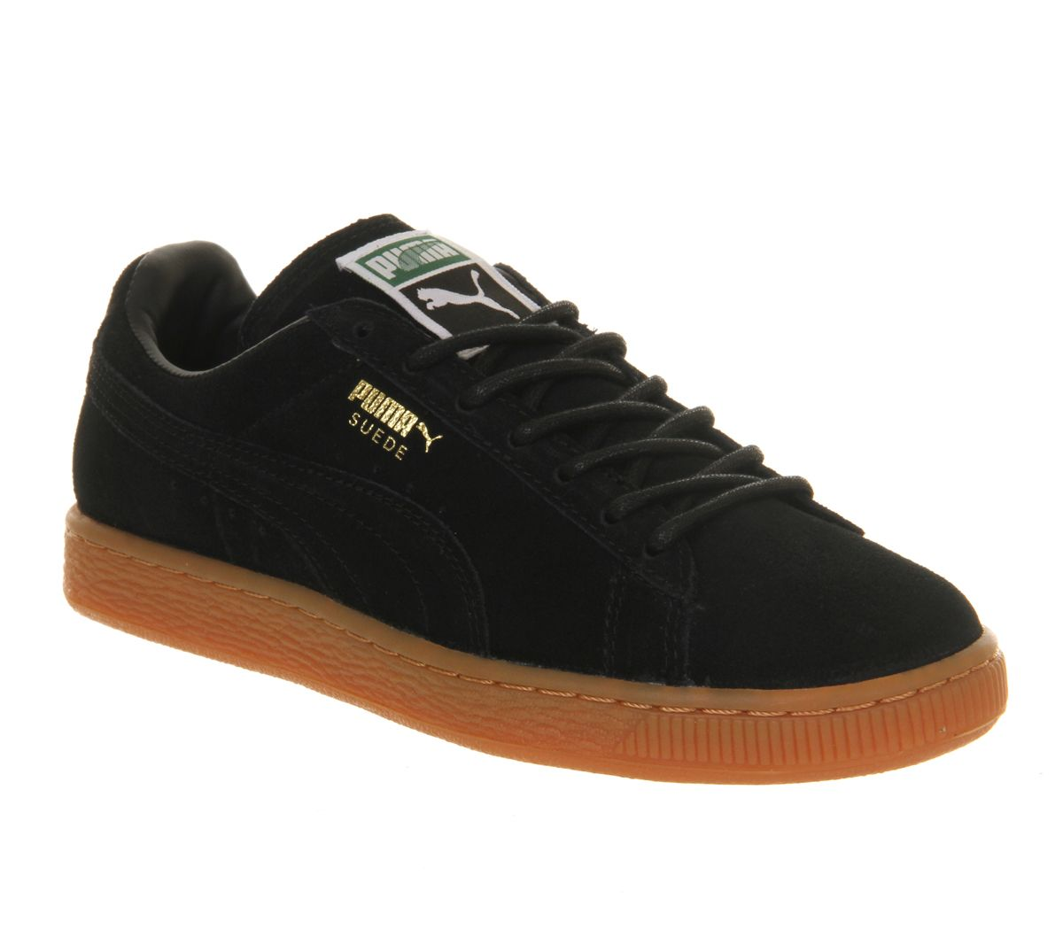 black puma brown sole