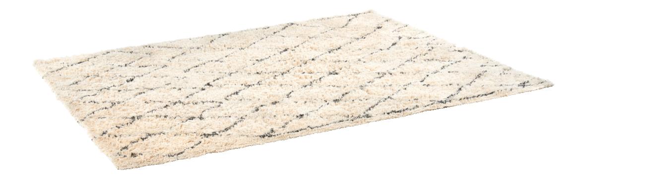 jiddeth tapis tuft en coton x noir et blanc habitat with tapis cuir maison du monde. Black Bedroom Furniture Sets. Home Design Ideas
