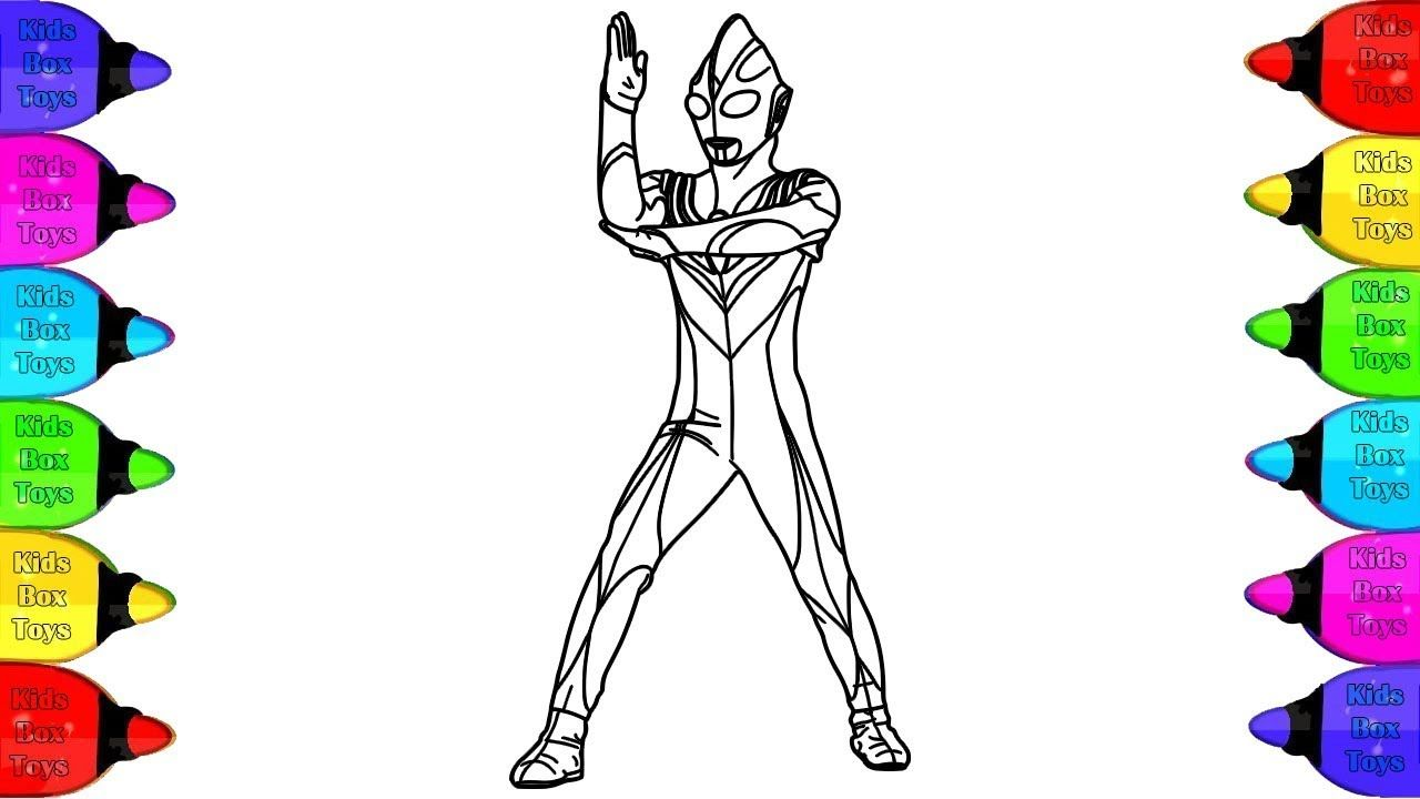 Ultraman Gaia Coloring Pags Coloring Pages For Kids With Colored Marke Coloring Pages For Kids Coloring Books Coloring Pages