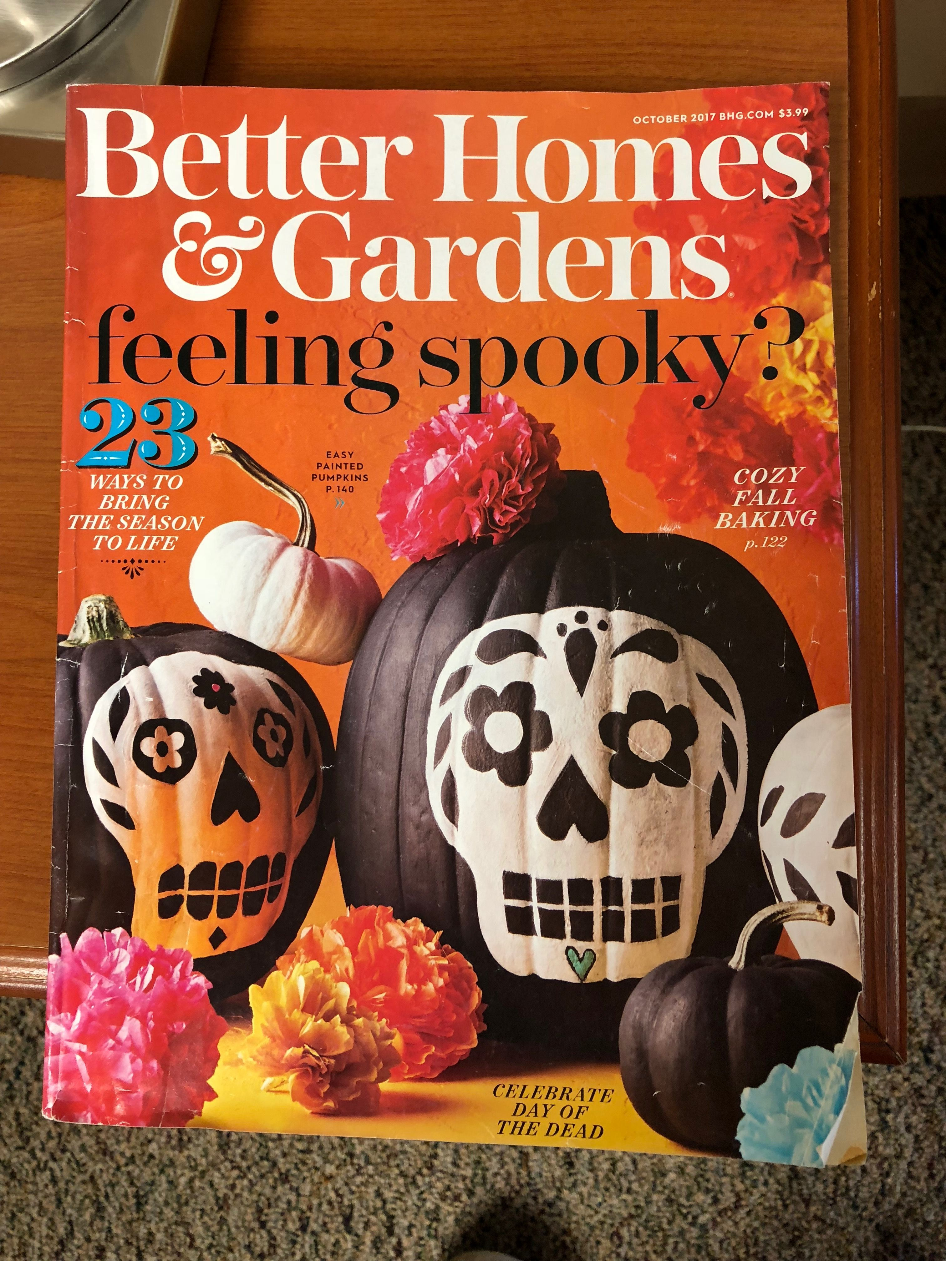 Better Homes And Gardens Halloween Tricks And Treats Magazine 2017