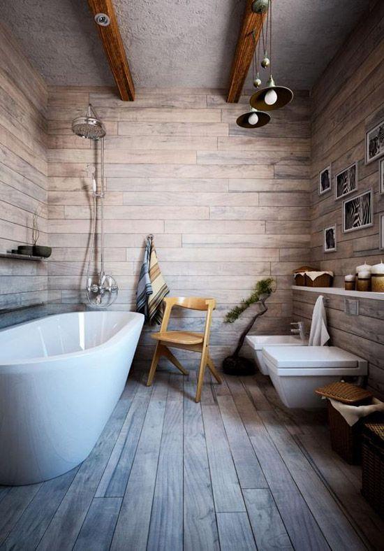Houten vloer in de badkamer - badkamer | Pinterest - Badkamer ...