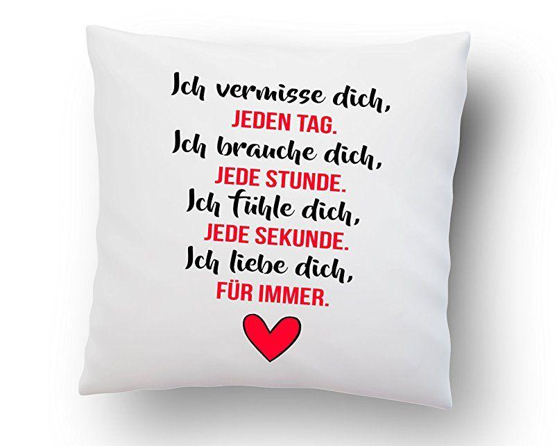 liebeskissen mit spruch 39 39 ich vermisse dich jeden tag 39 39 deko kissen romantische. Black Bedroom Furniture Sets. Home Design Ideas