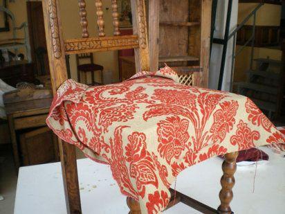 Conoce la t cnica para restaurar asientos antiguos tela - Telas tapizar sofas ...