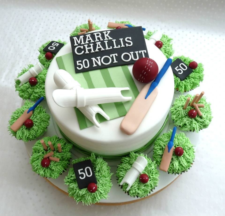 Cricket Cake Cricket cakes Pinterest Cricket cake ...
