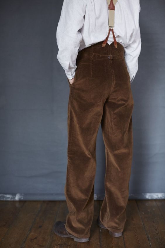 High Rise Trousers | Old town clothing, Trousers, Mens