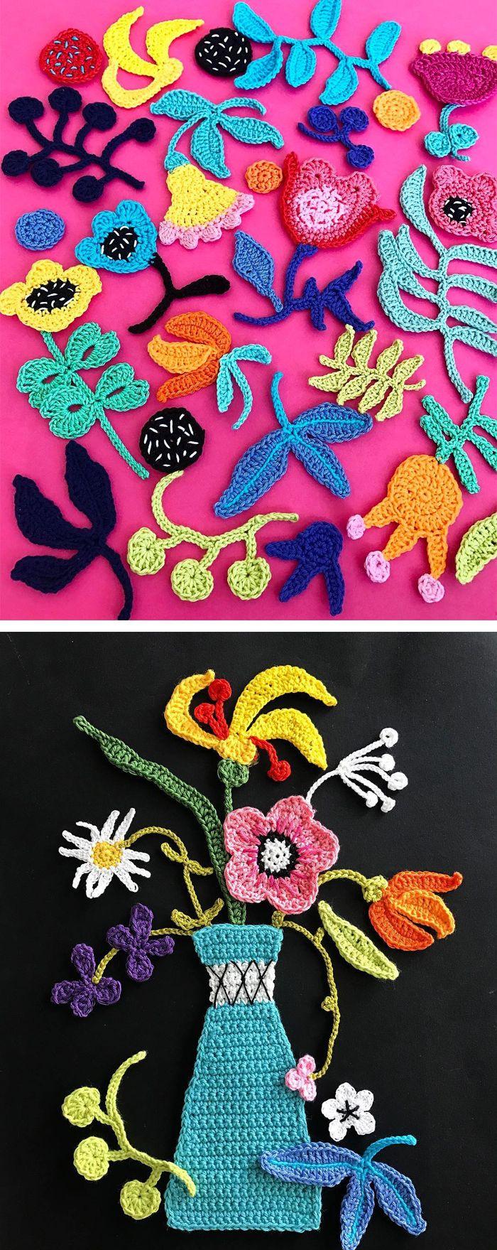 Crochet art by Tuija Heikkinen #crochet #fiber art #embroidery ...
