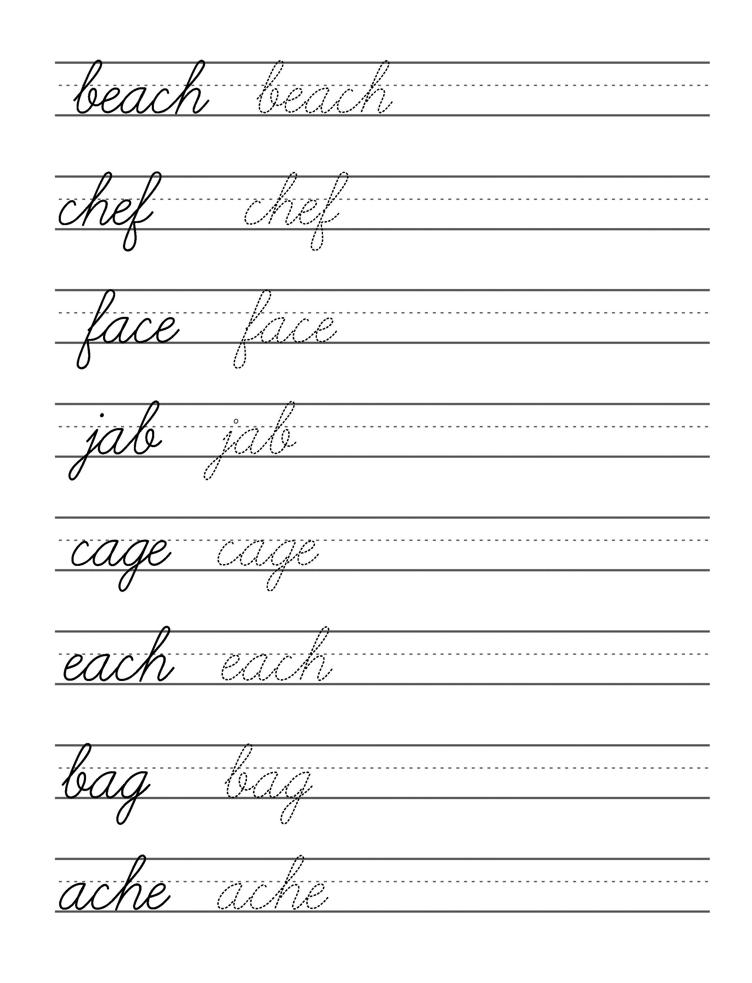 Cursive Writing For Kids In