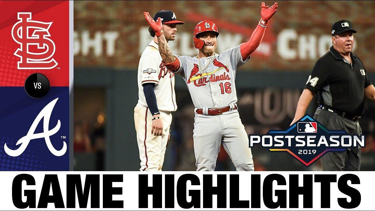Ozuna Goldschmidt Wong Lead Cards Past Braves In Nlds Game 1 Cardinals Braves Game Highlights Braves Game Braves Cardinals