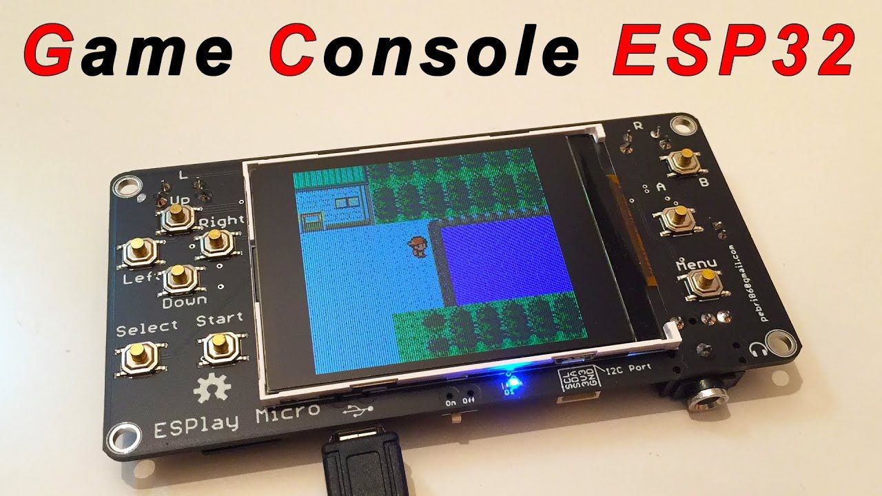 ESPlay Micro Open Source Game Boy Console with ESP32