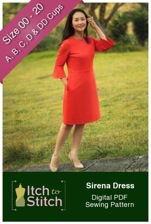 Sirena Dress Digital Sewing Pattern (PDF   Sewing Ideas   Pinterest