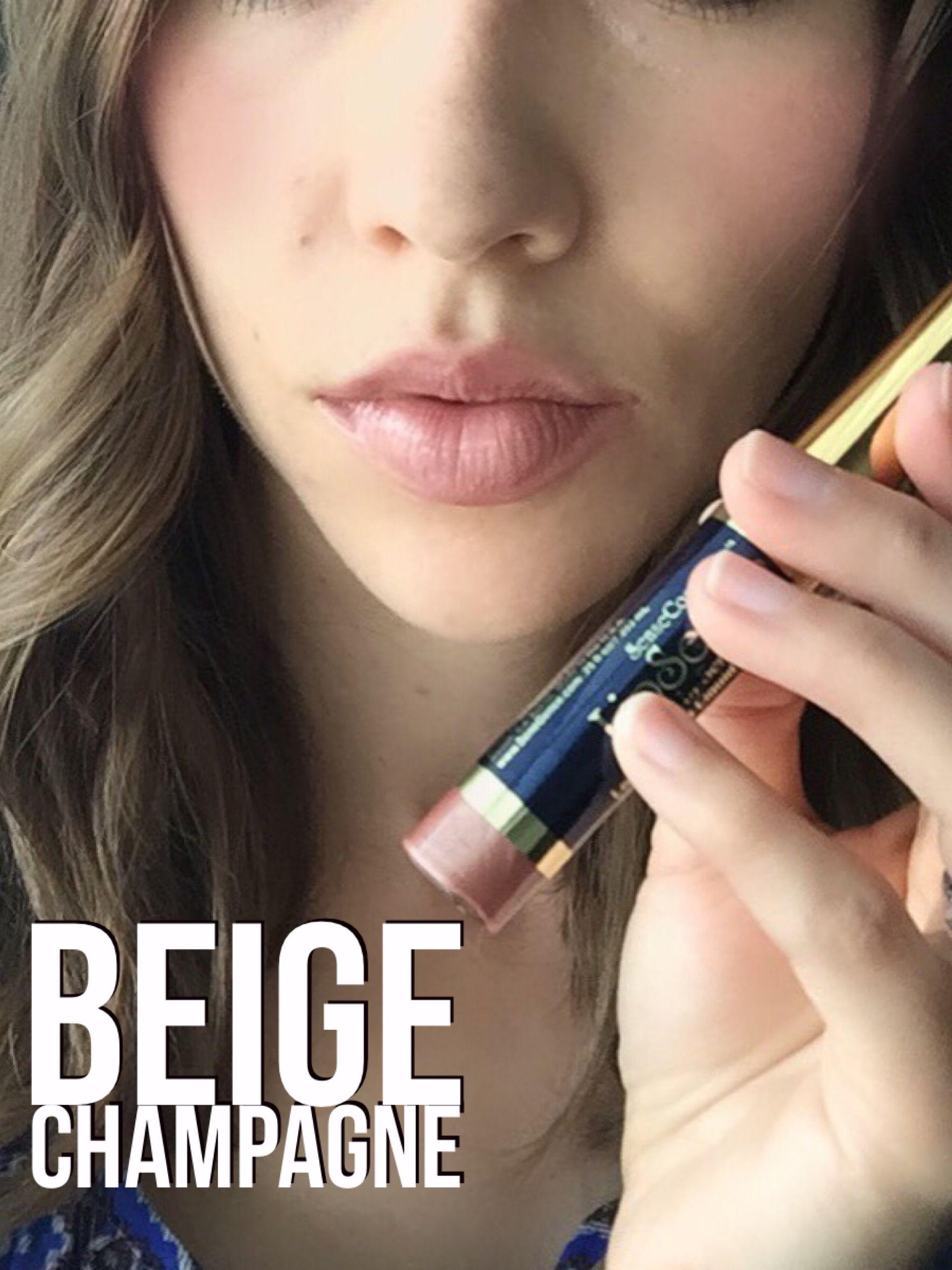 Lipsense Makeup: LipSense Beige Champagne & Glossy Gloss