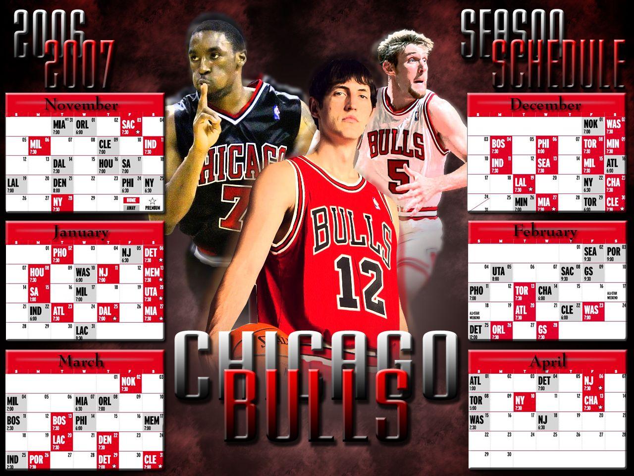Chicago Bulls Fan Team schedule, Chicago bulls, Michael