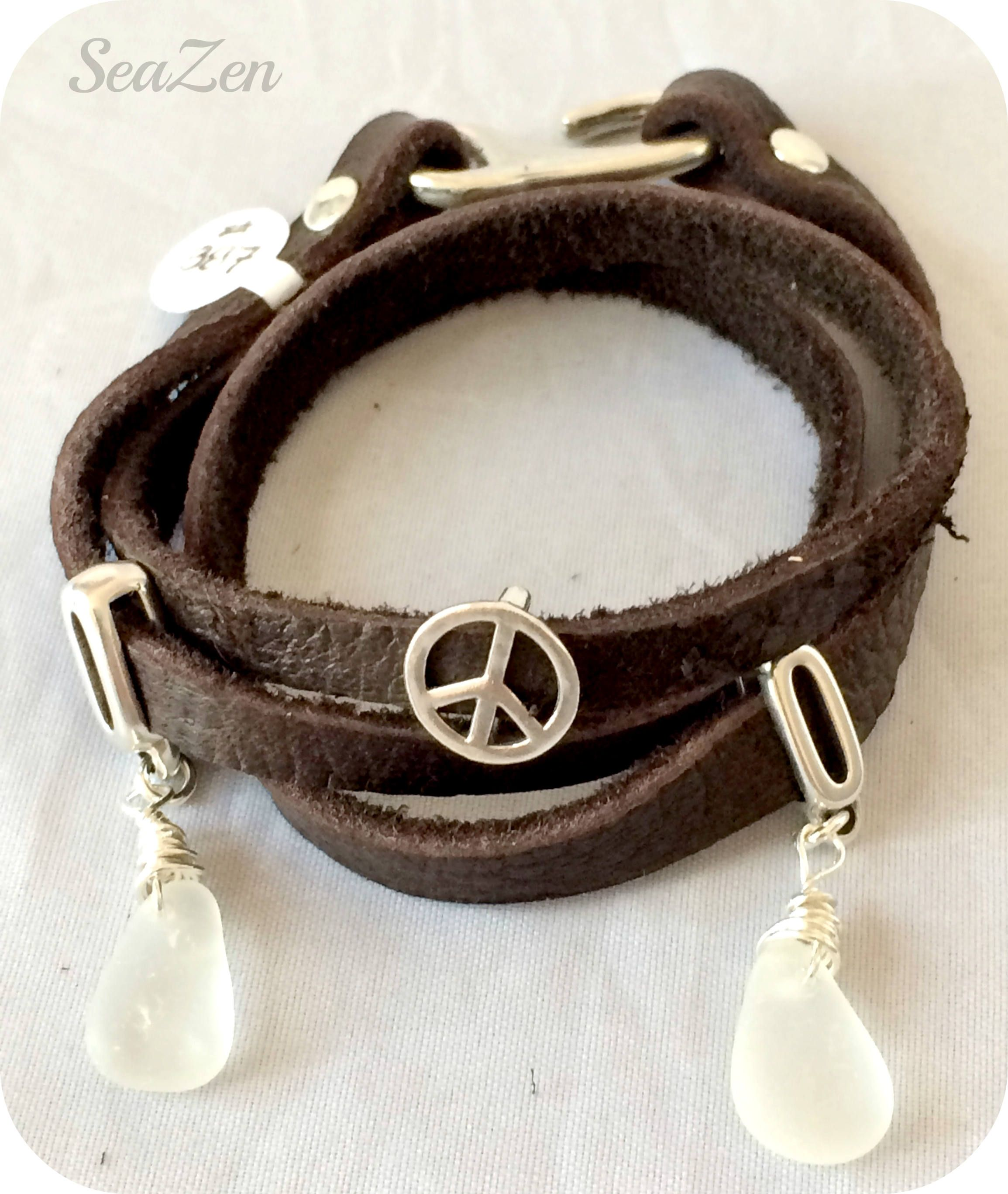turquoise adjustable charm beads string sign peace leather dsc products waxed bracelet and made hand with woven bracelets