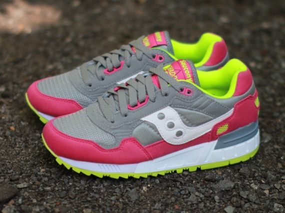 saucony shadow 5000 womens pink yellow 03 Saucony Womens Shadow 5000 Grey  Pink