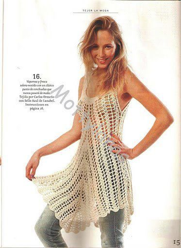 Häkeln Netz Tunika Top Crochet Tunic Top Crotchet Pinterest