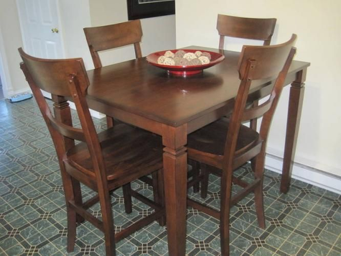kitchen table sets Ashley Furniture Pub Style Kitchen Table Set