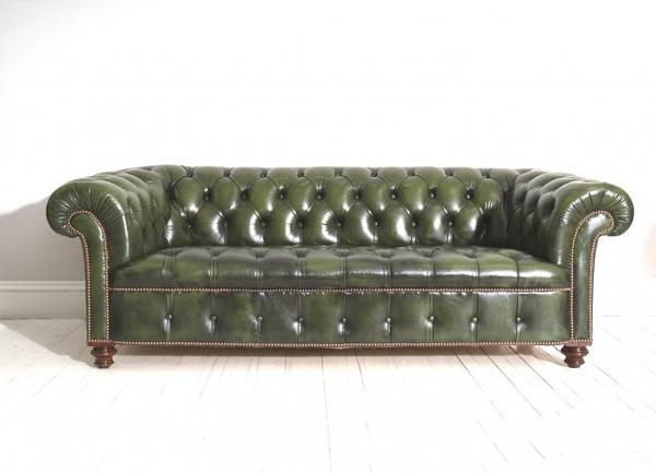 A Beautifully Red Antique Chesterfield Sofa This Piece Has Been Given Full New Oned Seat And Some Light Restoration