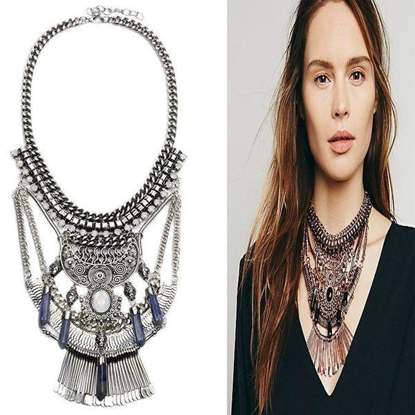 ‰ä?öª‰öªSimple Crystal Jewelry Necklace Silver Statement Necklace ‰öª‰öª‰ä» - Crystalline