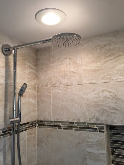 Master Bathroom Remodel with New Tiled Shower in Waterford CT www.shawremodeling.com #bathroom #renovate #remodel #tile #shower #waterfordct #
