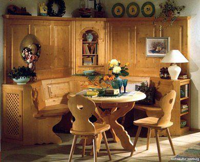 Traditional German Eckbank Corner Table All Things