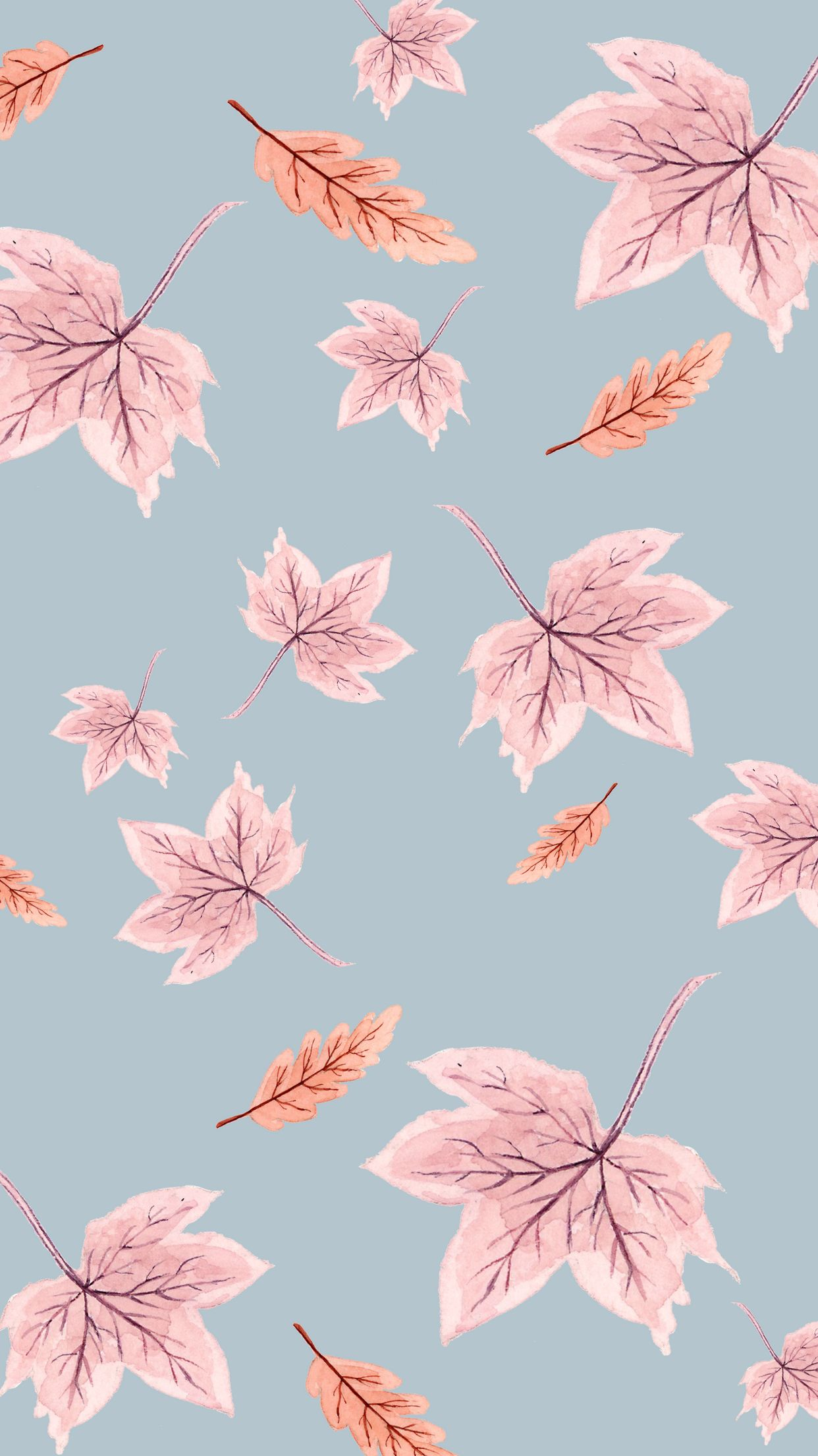 Fun (and free!) Fall Phone Wallpapers #blue