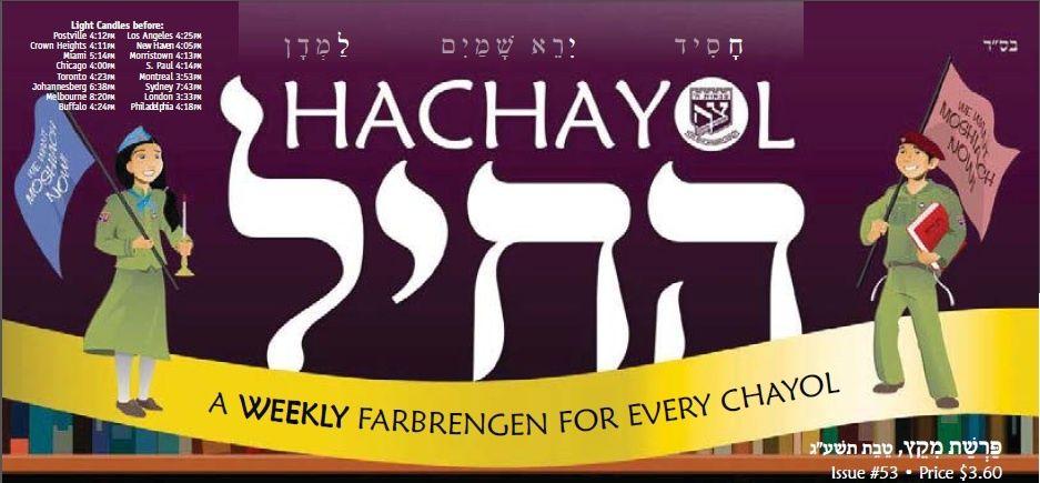 Hachayol Magazine Subscription signup for children-- through Tzivos Hashem!