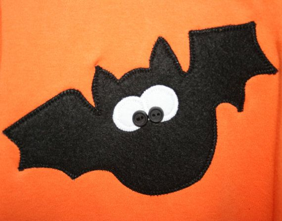 Halloween Shirt Applique Bat for Boys Children and by jenny7777