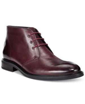 Alfani Men S Lombard Plain Toe Chukka Boots Only At Macy S Red