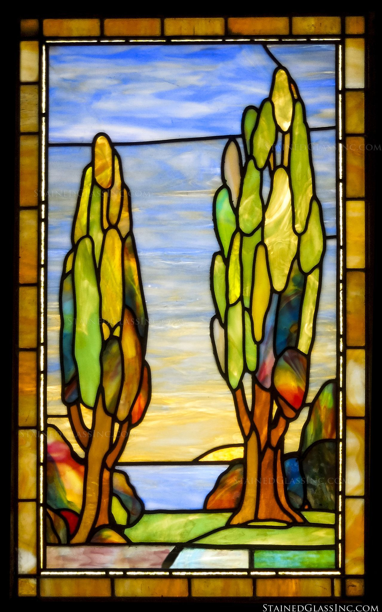 Landscape Beauty - 5336 - Stained Glass Inc