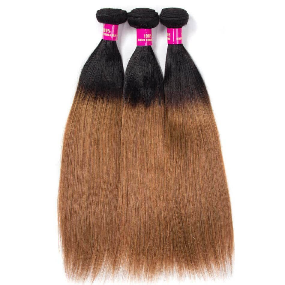 1B/30 Hair Color Brazilian Straight Hair Evan Hair 100